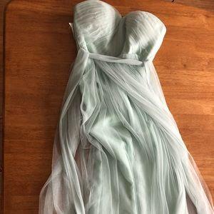 NWT sea foam green gown bridesmaid